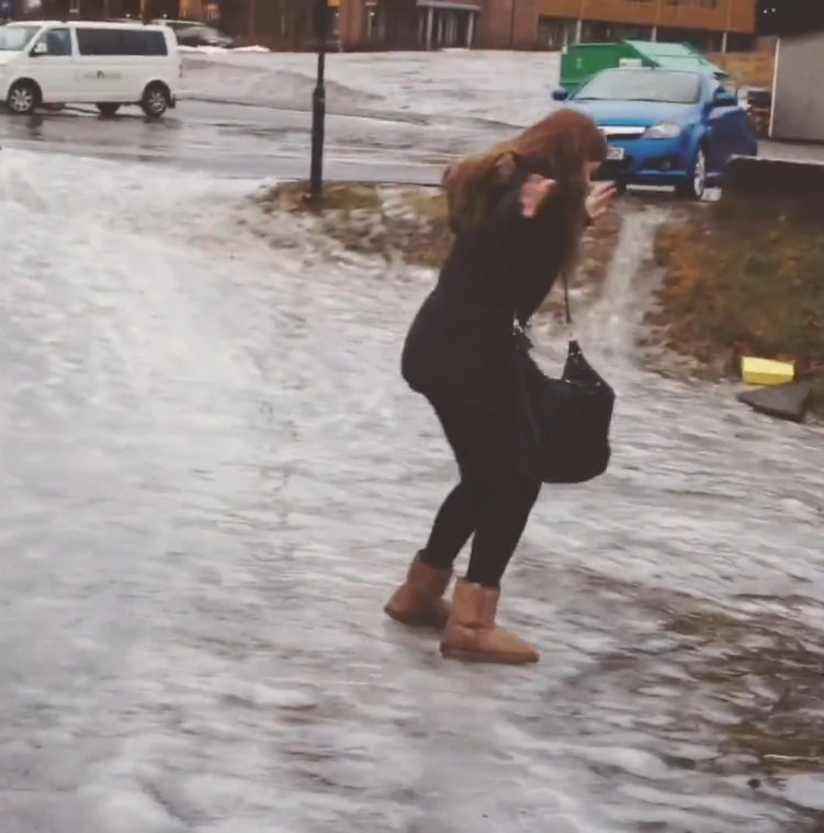 Image of: Down Stairs Funny Video People Falling On Ice Good Times Funny Video People Falling On Ice Good Times