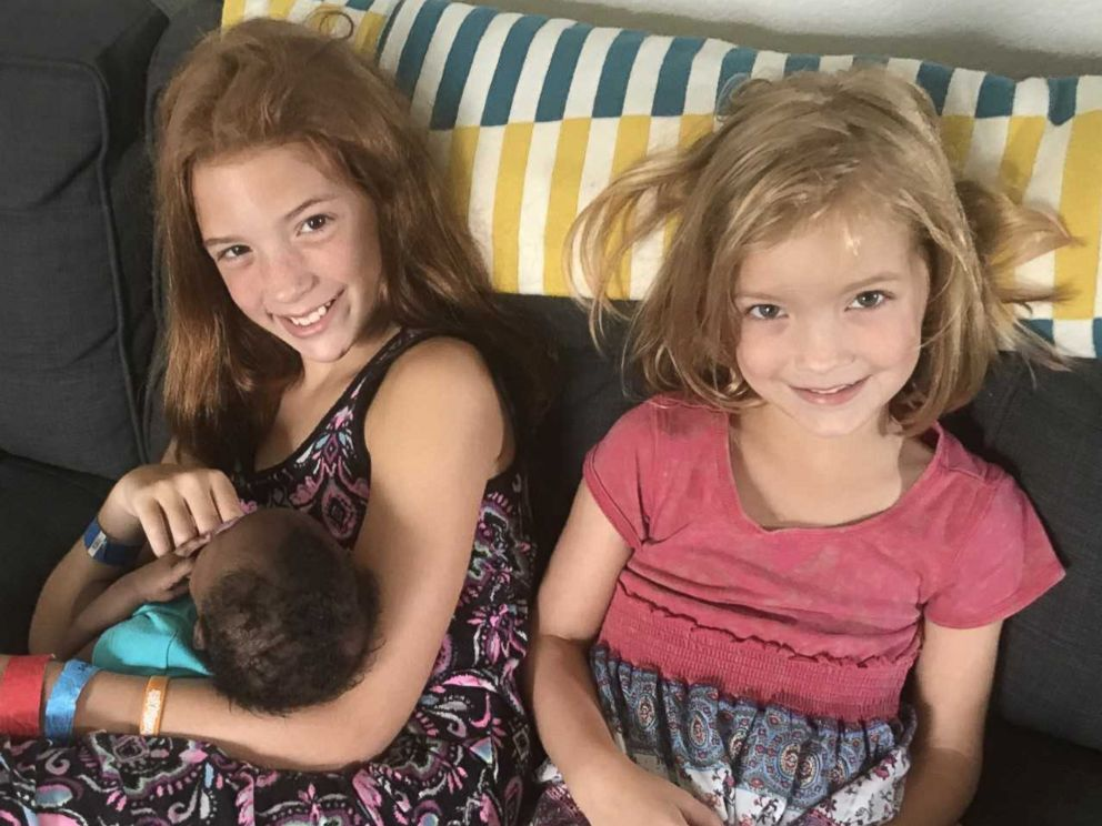 """Both Shane and Kasi were really grateful that their daughter welcomed their  newly adopted sister. Shane said that the family felt """"humbled and excited""""  to ..."""