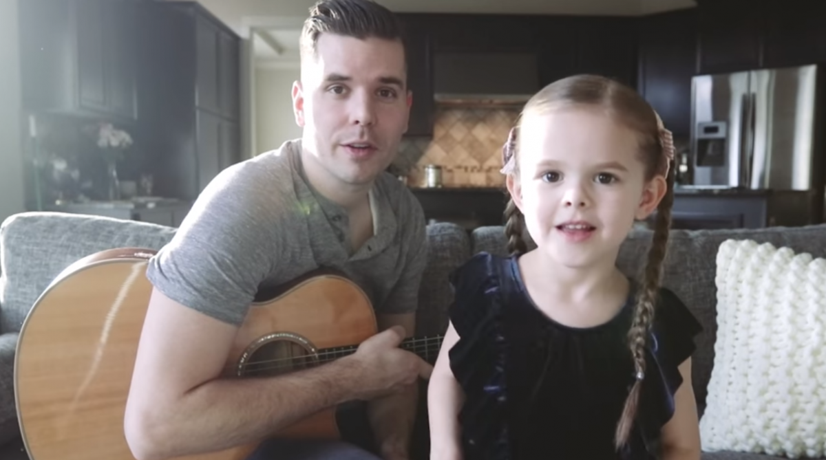 Little girl tells dad that she wants to sing a sad song—her