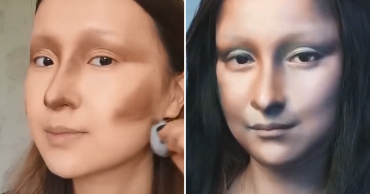 Beauty vlogger from China transforms into Mona Lisa through stunning