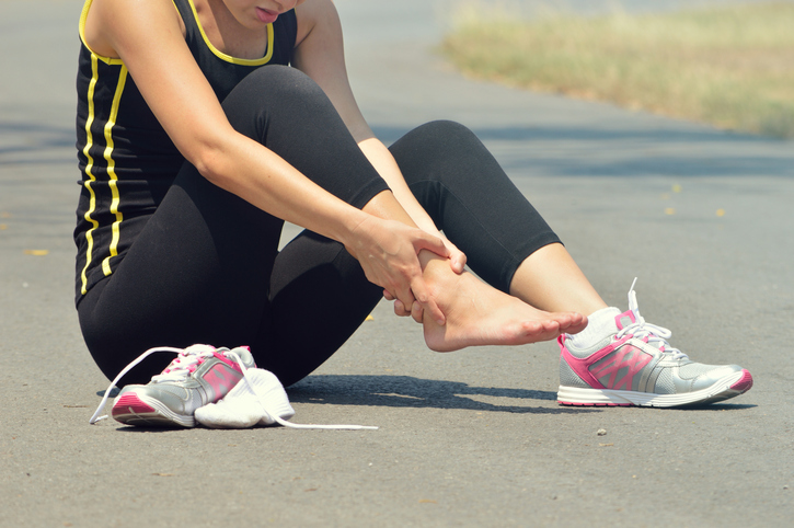 Ilustrasi foto pergelangan kaki terkilir