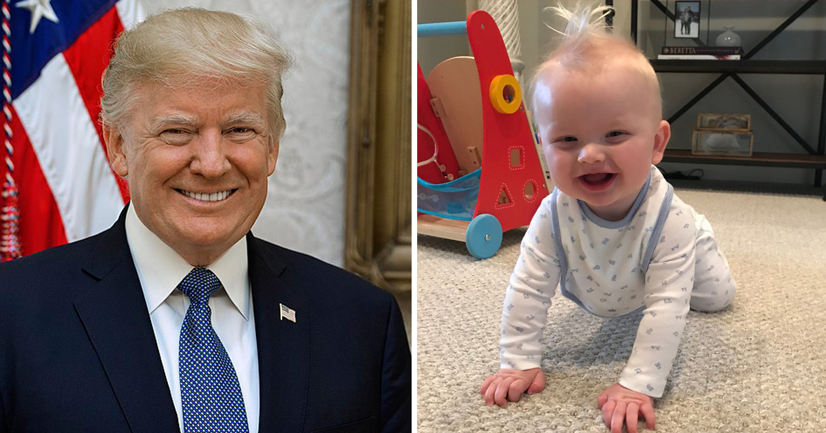 Baby Luke Is Trump's Youngest Grandson And He Has The Same