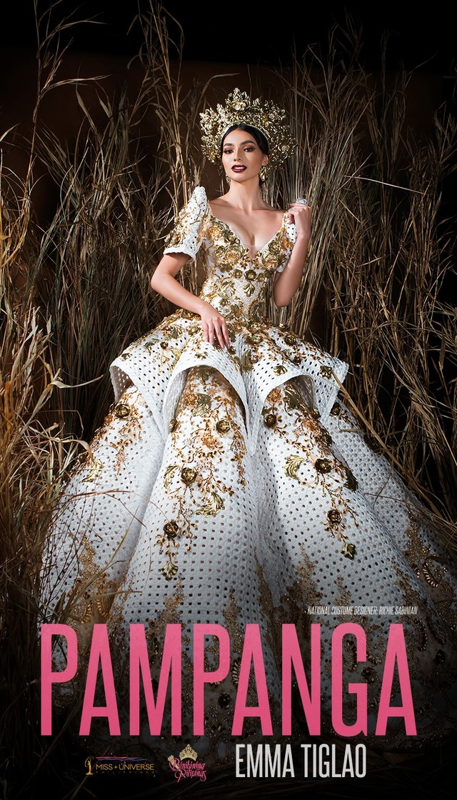 Stunning gown worn by Filipino beauty queen was created by