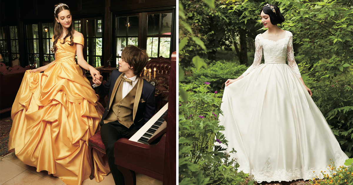 Disney Partners With Japanese Wedding Company To Create Princess Inspired Wedding Gowns Collection Good Times
