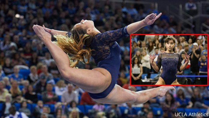 Talented Gymnast Scores Perfect For Ucla Her Smashing Floor Exercise Routine Michael